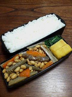 大豆と根菜の鉄火味噌和え