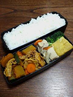 豚肉とカボチャ、高野豆腐