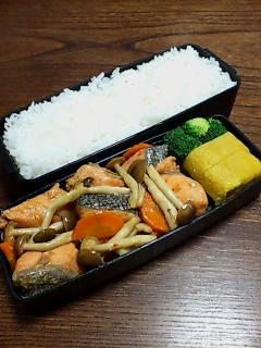 鮭とシメジ