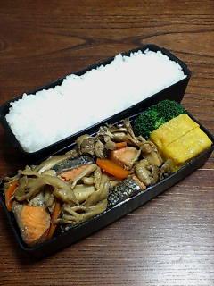 鮭と舞茸のバター醤油炒め