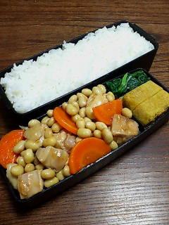 鶏肉と大豆の炒め物