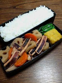 イカとレンコンの味噌煮