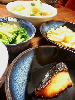 和風の朝食製作