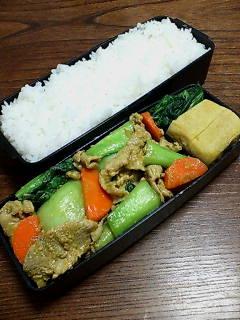 豚肉とチンゲン菜の味噌カレー炒