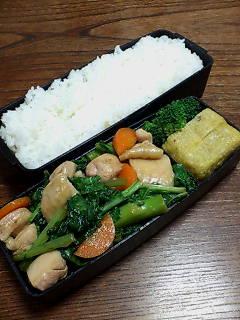 鶏肉とカブレ菜の柚子胡椒炒め