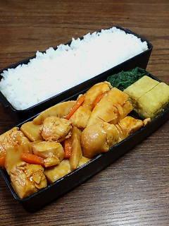 鶏肉とタケノコのケチャップ炒め