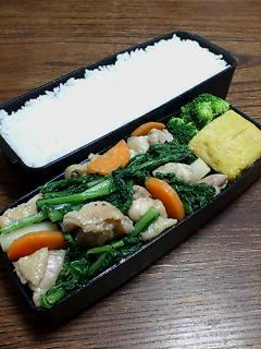 鶏肉と大根菜の炒め物