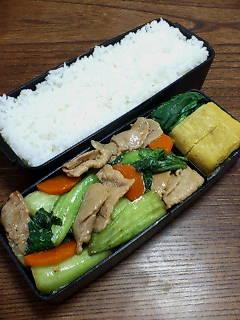 豚肉と青梗菜の甜麺醤炒め