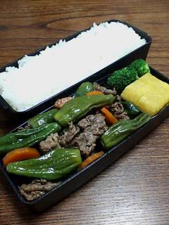 牛肉とシシトウの山椒煮