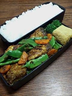 ブリとモロッコインゲンの炒め物