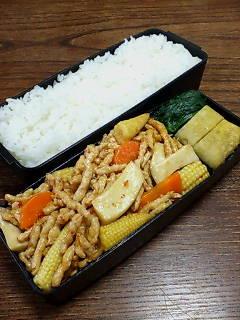 大豆肉の中華風炒め
