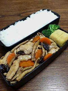 豚肉と柳松茸の生姜炒め