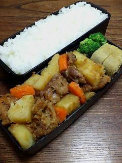 豚肉とジャガイモの黒酢炒め