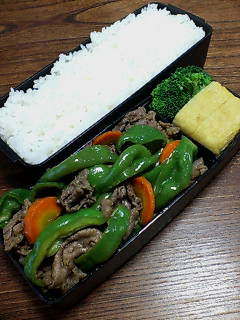 牛肉とピーマンの黒酢山椒炒め