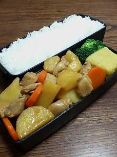 鶏肉とジャガイモの黒酢煮