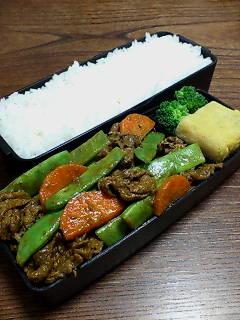牛肉とモロッコインゲンの炒め物