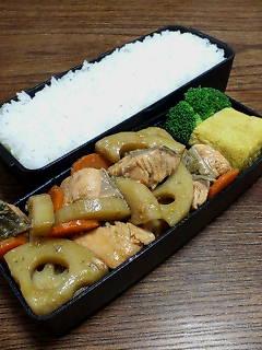 鮭とレンコンの炒め物