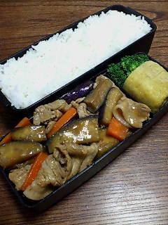 豚肉とナスのポン酢甜面醤炒め