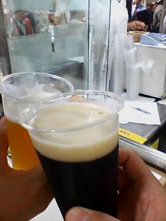 北海道物産展でビール
