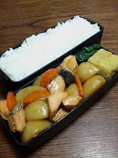 鮭とカブの炒め物