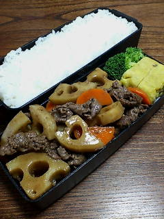 牛肉とレンコンの山椒炒め煮