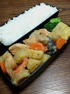 鮭とジャガイモの味噌煮