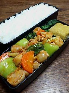 鶏肉と青梗菜のケチャップ炒め