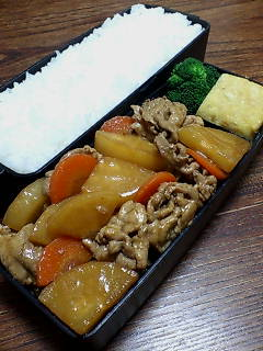 豚肉と大根の甜麺醤醤油炒め