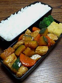 鶏肉とカボチャのバルサミコ酢炒