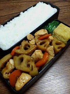 鶏肉とレンコンの炒め物