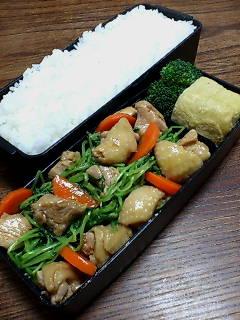 鶏肉と豆菜のクミン七味炒め