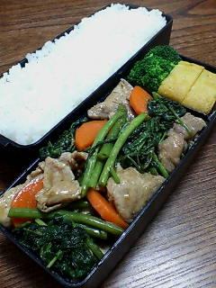 豚肉と空芯菜の醤油膏炒め