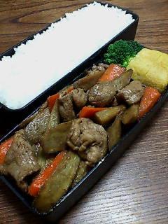 豚肉とゴボウの甜麺醤炒め