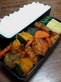 鮭とカボチャのバルサミコ醤油炒め