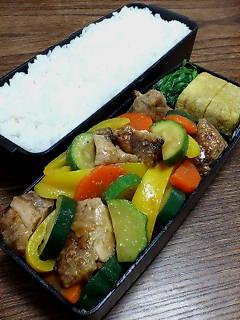焼いた鶏肉と茹で野菜のポン酢柚子胡椒かけ