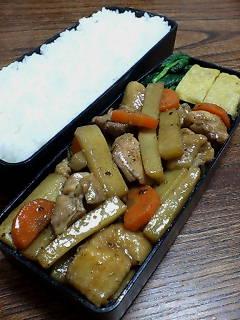 鶏肉とウドのクミンシード甜麺醤炒め
