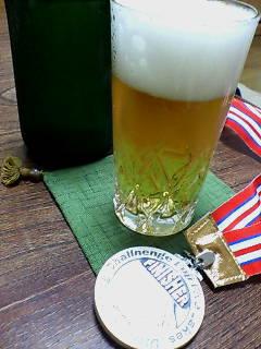 ビールとメダル