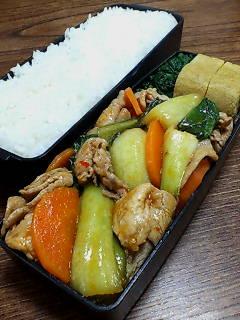 豚肉と青梗菜のケチャップ炒め