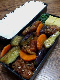 豚肉カリカリ揚げとナスのオイスター柚子胡椒炒め