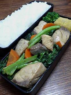 ブリと小松菜の炒め物