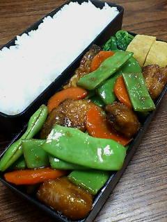 鯖とモロッコインゲンの生姜炒め