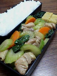 鶏肉とセロリのナンプラーバルサミコ炒め