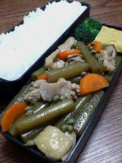 鶏肉とフキの山椒煮