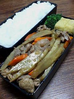 豚肉とゴボウの生姜炒め