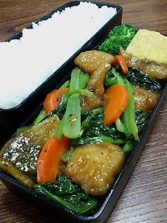 アジと小松菜のオイスターソース炒め
