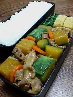 豚肉とスクナカボチャの生姜炒め