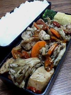 鶏肉と舞茸のドライトマトバルサミコ炒め