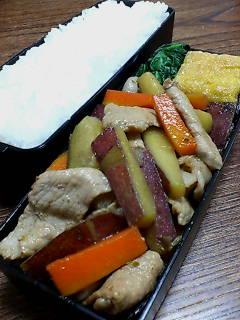 豚肉とサツマイモの柚子胡椒煮