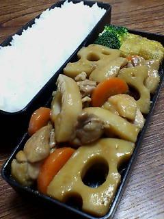 鶏肉とレンコンの炒め煮