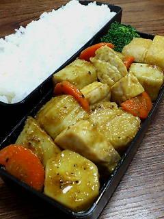 カジキと里芋のカレーオイスター炒め